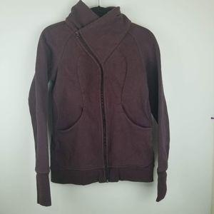 LULULEMON Cozy Cuddle Up Jacket Size 8 Heathered